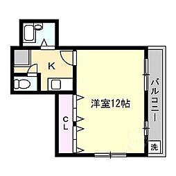 シャルマン大和田 2[3階]の間取り