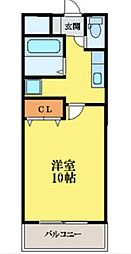 メゾン南昭和[2階]の間取り
