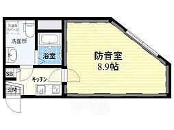 コンポジット荻窪ラシクラス 5階1Kの間取り