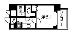 Osaka Metro堺筋線 堺筋本町駅 徒歩3分の賃貸マンション 3階1Kの間取り