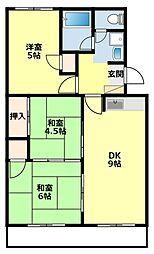 愛知県豊田市大林町17丁目の賃貸マンションの間取り