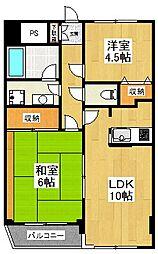 東京都狛江市和泉本町3丁目の賃貸マンションの間取り