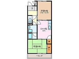 三重県伊勢市田尻町の賃貸アパートの間取り