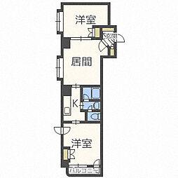 メープル東札幌[4階]の間取り