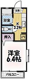 セフィラ七瀬川[110号室号室]の間取り