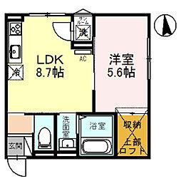One Hyde Park 1階1LDKの間取り