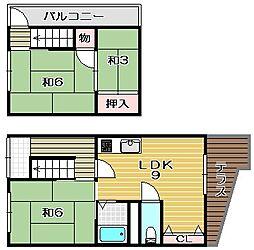 [一戸建] 大阪府茨木市小川町 の賃貸【大阪府 / 茨木市】の間取り