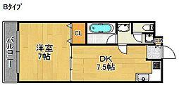 サンデンフラッツ[2階]の間取り