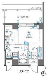 フェニックス飯田橋 4階ワンルームの間取り