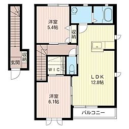 ティンカーベルII[2階]の間取り