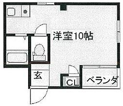 BM北堀江[2階]の間取り