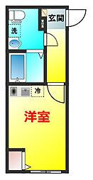 金沢シーサイドライン 野島公園駅 徒歩10分の賃貸アパート 2階1Kの間取り