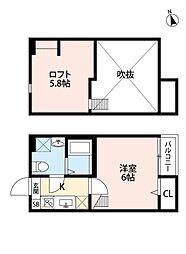 ビオ新松戸[103号室号室]の間取り