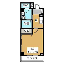 ブライトマーチ タナカ[3階]の間取り