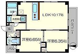 (仮称)木川東3丁目マンション[6階]の間取り