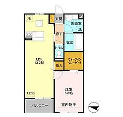 埼玉県吉川市栄町の賃貸アパートの間取り