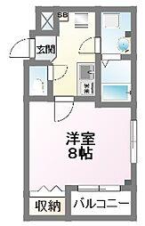 Y−ark tsudanuma[2階]の間取り