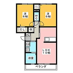 エステイトZEN C[1階]の間取り