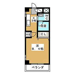 HERBE入船[4階]の間取り