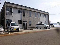 秋田県大仙市戸蒔字松ノ木の賃貸アパートの外観