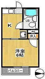 スカイパルD棟[1階]の間取り