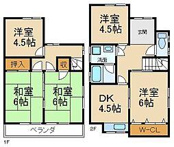 [一戸建] 大阪府枚方市香里ケ丘12丁目 の賃貸【/】の間取り