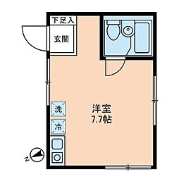 東京都板橋区志村1の賃貸アパートの間取り