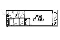 サンコーマンション[201号室]の間取り