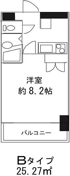 ドミール東日本橋[705号室]の間取り
