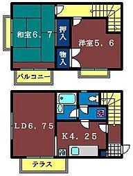 [テラスハウス] 千葉県船橋市本町4丁目 の賃貸【/】の間取り