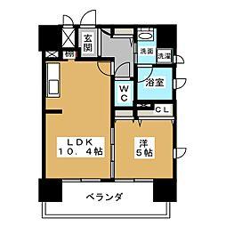 La Casa Alba Due[2階]の間取り