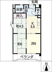 シャトー共栄B棟[4階]の間取り