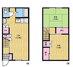 埼玉県さいたま市中央区上峰4丁目の賃貸アパートの間取り