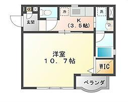 愛知県名古屋市熱田区一番1丁目の賃貸マンションの間取り