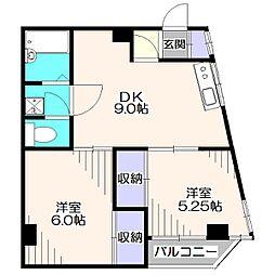 モンシャトー田無成和[4階]の間取り