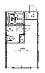 ヴィノシティ横浜[202号室]の間取り