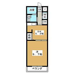 プレアデス桃山[4階]の間取り