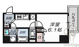 リーガレジデンス豊崎[9階]の間取り
