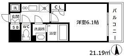 エスリード梅田グランノース[8階]の間取り