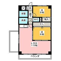 エステート高針台[5階]の間取り