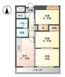 Grand Cha'teau III[2階]の間取り