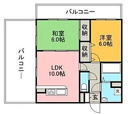 リード桜坂[5階]の間取り