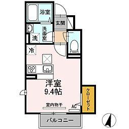 プランドール A棟[1階]の間取り