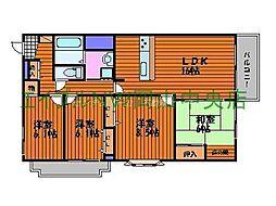 岡山県岡山市北区三門東町の賃貸マンションの間取り