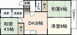 ファミール隅田B棟[2階]の間取り
