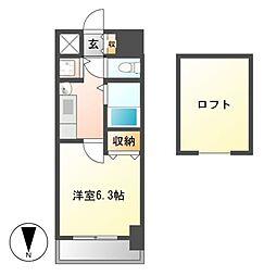 プレサンス大須観音駅前サクシード[13階]の間取り