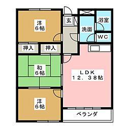 ロイヤルパレス弐番館[3階]の間取り