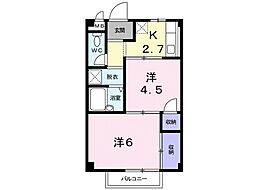 シーズ桜B[1階]の間取り