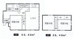 間取り図。全居室6帖以上南向き。