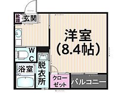 クレフラスト桜ヶ丘[101号室]の間取り